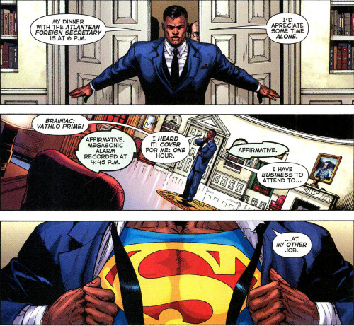 panel from Final Crisis of President Superman