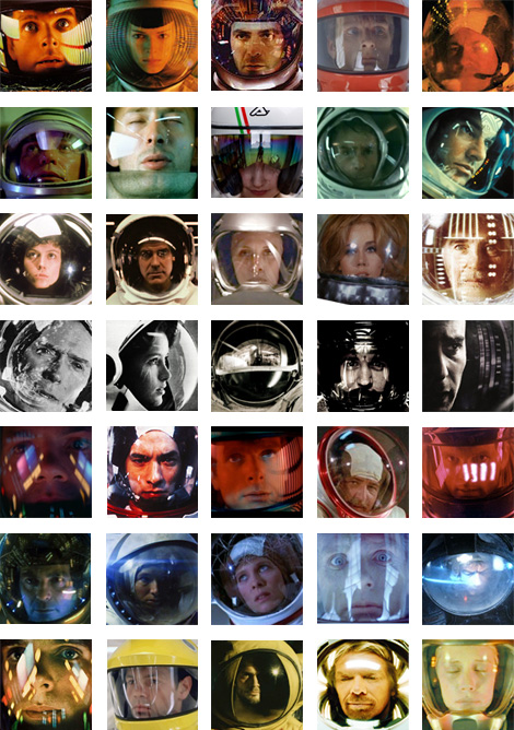 Thirty Five Images of Space Helmet Reflections