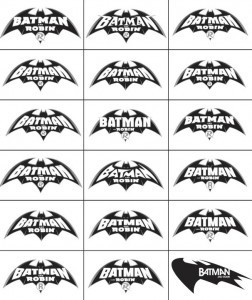 batman and robin logos